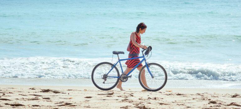 cykel på strand